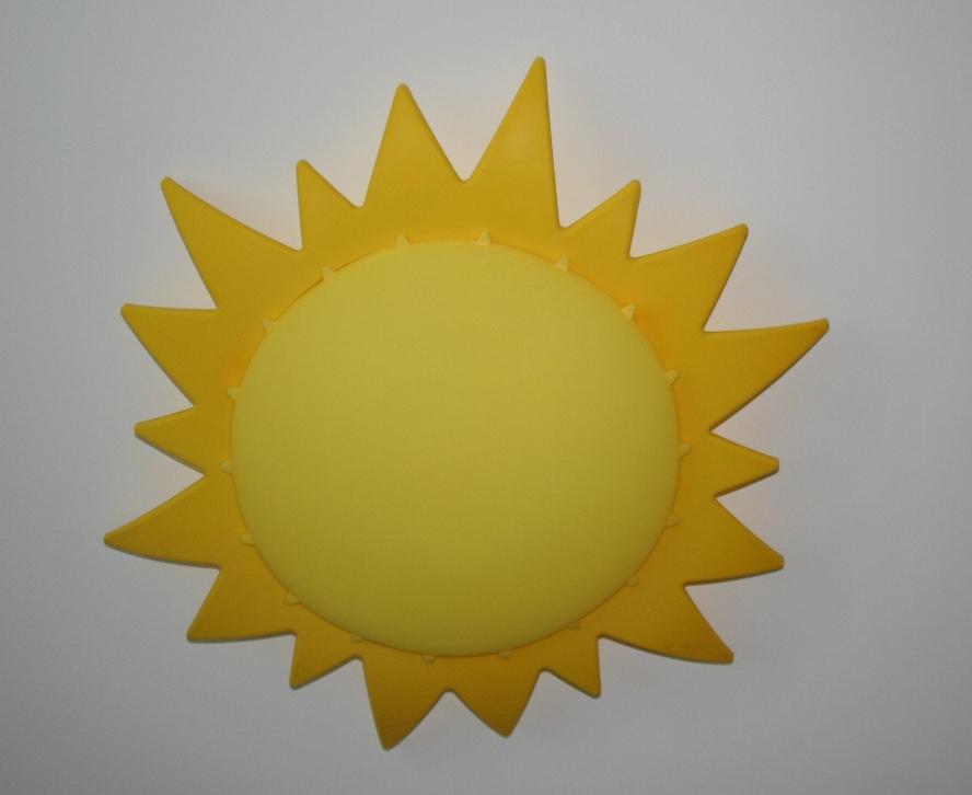 candeeiro em forma de sol