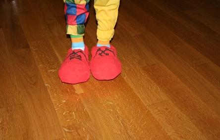 sapatos de palhaco